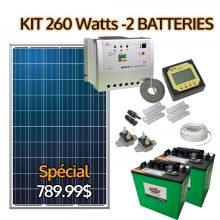 kit solaire 260 watts avec batteries
